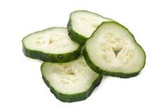 Freshly sliced cucumber Royalty Free Stock Photos