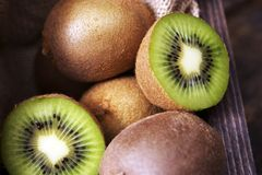 Freshly Sliced Kiwi Royalty Free Stock Photos
