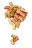Freshly sliced rhubarb Royalty Free Stock Image