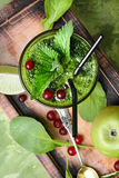 Freshly spinach smoothie Stock Images