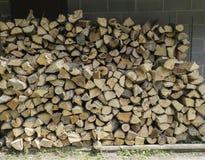 Freshly Split Firewood Stacked Neatly Royalty Free Stock Images