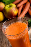 Freshly squeezed carrot juice Royalty Free Stock Image