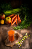 Freshly squeezed carrot juice Stock Photo