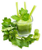 Freshly squeezed celery juice Royalty Free Stock Photos