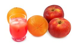 Freshly squeezed fruit juice Royalty Free Stock Images