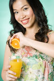 Freshly Squeezed Juice Royalty Free Stock Photos
