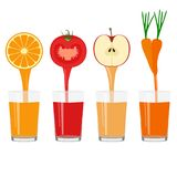 Freshly squeezed juice in a glass. Healthy Lifestyle. Health. Vector illustration