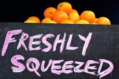 Freshly squeezed orange Stock Image