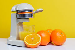 Freshly squeezed orange juice Royalty Free Stock Image