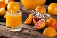 Freshly Squeezed Orange Juice Royalty Free Stock Images