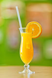 Freshly squeezed orange juice in hurricane glass Royalty Free Stock Photos