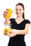 Freshly squeezed orange juice Royalty Free Stock Photos