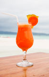 Freshly squeezed pineapple and carrot juice Royalty Free Stock Image