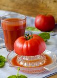 Freshly squeezed tomato juice Royalty Free Stock Photos