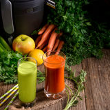 Freshly squeezed vegetable juices Royalty Free Stock Photo