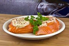 Freshly Stuff Wild Salmon Stock Images