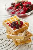 Freshly waffles Royalty Free Stock Images