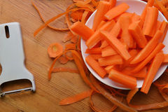 Freshly carrots Royalty Free Stock Photography