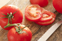 Freshly washed ripe red tomatoes Royalty Free Stock Images