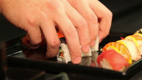 Freshmade sushi. stock video