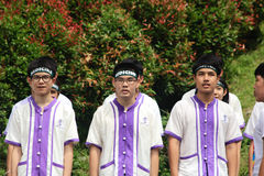 Freshmen Welcoming Ceremony of Chiang Mai university, Thailand Stock Images