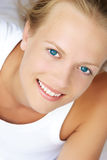 Freshness. Young woman smiling stock image