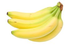 Freshness bananas. Isolated fresh banana bunch in decoration Royalty Free Stock Photography