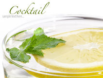 Freshness cocktail, lemon and mint Stock Photo
