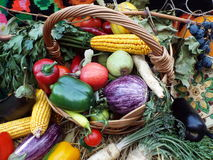 Freshness eco vegetables for sale in market Royalty Free Stock Images