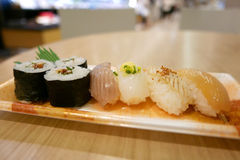 Freshness Japanese food Sushi set Stock Image