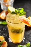 Tangerine Mojito Cocktail Stock Images