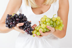 Freshness red grapes Royalty Free Stock Images