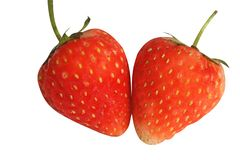 Freshness red strawberry isolated on white background royalty free stock photography