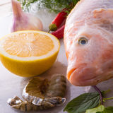 Freshness reddens the Nile Tilapia Royalty Free Stock Photos