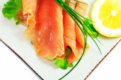 Freshness salmon salad Royalty Free Stock Photo