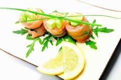 Freshness salmon salad Stock Photo