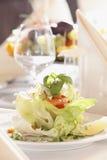 Freshness Salmon Salad with Home Made Sauce Stock Image