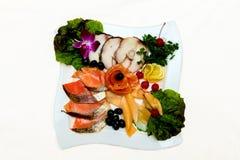Freshness Salmon Salad Stock Image