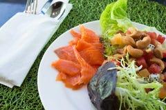 Freshness Salmon Salad Stock Photos