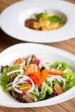 Freshness Salmon Salad Royalty Free Stock Photography