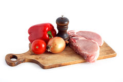 Raw Meat And Vegetables Stock Images