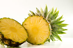 Freshness of sliced pineapple on white background Stock Photography