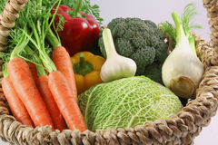 Freshness vegetables in a basket Stock Photography