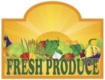 FreshProduceSignSunRaysV Stock Photo