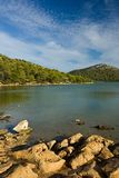 Freshwater lake on Adriatic sea island Royalty Free Stock Photography