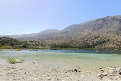 The freshwater lake Kournas. Crete. Greece Stock Image