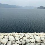 Freshwater lake, Tai Mei Tuk, Hong Kong stock images