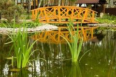 Freshwater marsh with bridge Royalty Free Stock Photo