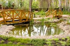 Freshwater marsh with bridges Royalty Free Stock Photos