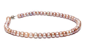 Freshwater pearl necklace Royalty Free Stock Photography
